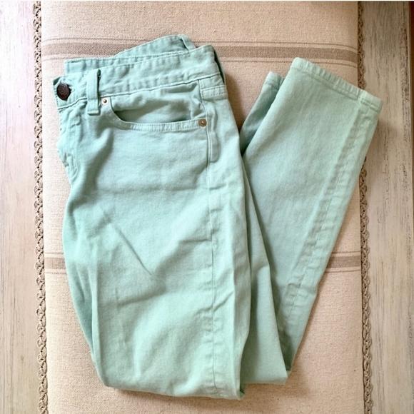 J.CREW Mint Toothpick Skinny Ankle Jeans